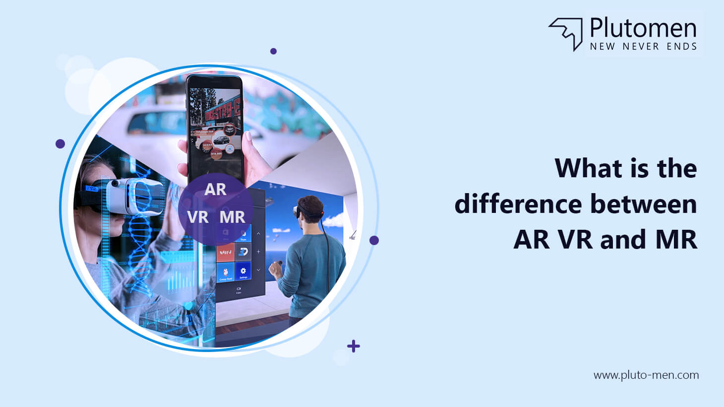 What is the difference between AR, VR and MR?
