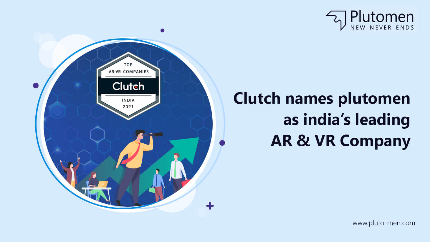 Clutch Names Plutomen as India's leading AR & VR Company